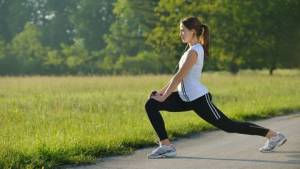 girl lunges